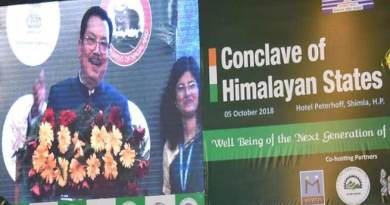 Chowna Mein attends the Conclave of Himalayan States in Shimla