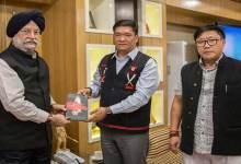 Arunachal:Union Minister of State Hardeep Singh Puri called on CM Pema Khandu