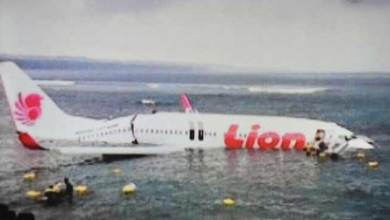 Photo of Indonesia airlines flight, Lion Air crashes into sea