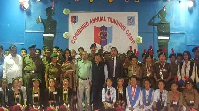 Arunachal: Ten day CATC NCC camp concludes Itanagar The ten day long Combined Annual training Camp ( CATC ) of NCC culminated with lots of programmes of literary, physical and mental exercise, training on weapon and cultural competition among the cadets of various schools and college of the Arunachal and Assam. Addressing the valedictory function School Education Director Gania Leij said that discipline and hard work yield result, if it is put up in right direction during the young age. While taking part in curricular activities in including games and sport NCC cadets should imbibe themselves to become a fine gentleman with patriotic in mind with a training for self defence. He was mesmerised by the cultural performances by the various team of the NCC and lauded their performance and said to become a good citizen one should be secular in thought and patriotic feeling. The multi talented cadets displayed various cultural programme of their respective states with a social ménage for all the cadets. Col R K Sharma 1 AP BN NCC appreciated the conduct and keenness of the cadets to learn during the Camp. The cadets underwent various training activities during the ten days training camp which included Firing, Drill, physical training and classrooms lectures. Disaster relief management demonstration and fire fighting demonstration were also organized by experts in the field. The cadets also expressed their satisfaction and appreciation for the training team who trained them for ten days. Few cadets while talking to this daily share their training at the camp and were seen happy with the quality food and accommodation and training they received with cultural diversity among the members concerned.