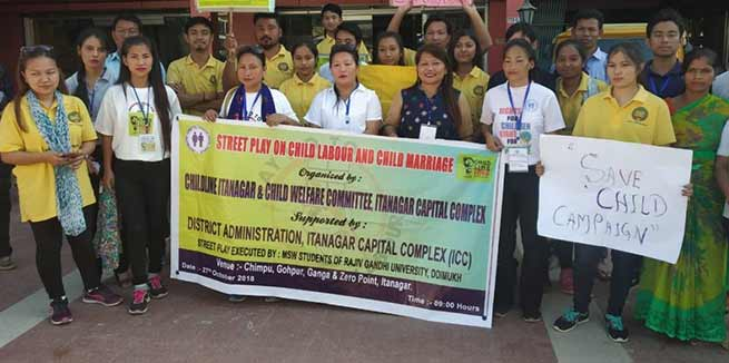 Itanagar: Street play for 'save child'