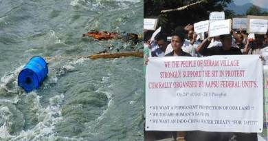Arunachal Students demanding water treaty with China