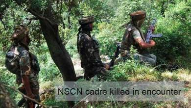Photo of Arunachal:  NSCN cadre killed in encounter