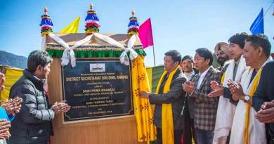 Arunachal: Khandu lays foundation stone for Tawang district secretariat building