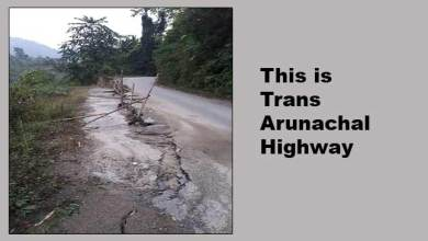 Photo of Arunachal:  TAH collapsed near Hoj Market poses threat to commuters