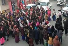 Arunachal- Women's Protest March against 2nd Arunachal Scout in Bomdila