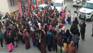 Photo of Arunachal- Women's Protest March against 2nd Arunachal Scout in Bomdila