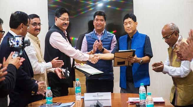 Arunachal: State Govt signs PML Deed Agreement with OIL