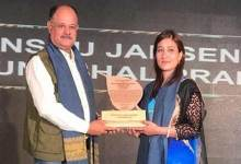Photo of Dr Anshu Jamsenpa honoured with 'Eastern Himalayan Global Environmental Ambassador'