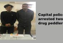 Arunachal: Capital police arrested two drug peddlers