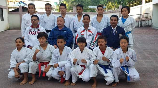 Arunachal: 13 member Karate-kas left for commonwealth karate championship at South Africa