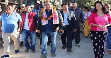 Itanagar: Techi kaso inaugurates CC Pavement