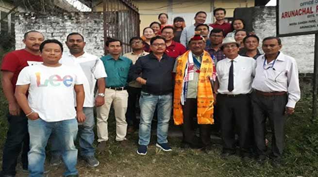 Itanagar: Media fraternity gives farewell to UNI Reporter Partha Bhowmick