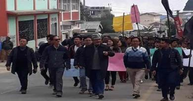 Arunachal: Protest March in Bomdila, public demand withdrawal of  Arunachal Scouts