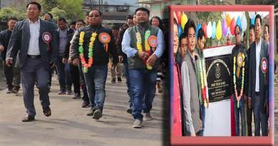 Itanagar: Kaso inaugurates CC Pavement road to Dikrong Colony