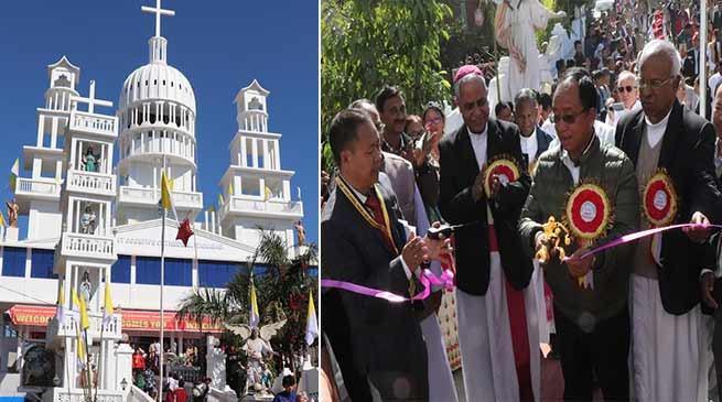 Itanagar: Kaso inaugurated St. Joseph Cathedral Church at Nyokum Lapang