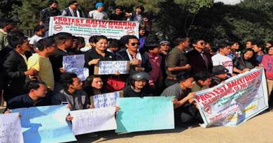 Arunachal: UAIPF organises dharna, protest against PRC issue
