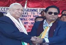 Meghalaya: Former CM Dr. DD Lapang quit congress, joined NPP