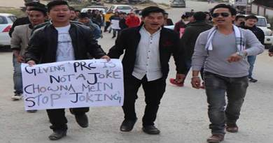 Arunachal: Protest March against PRC to non APST