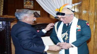 Photo of Itanagar : Chief of Army Staff calls on the Governor