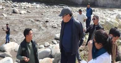 Arunachal: Rebia inspects Silting problem of Ranganadiin downstream