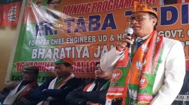 Arunachal : Taba Tedir joins BJP
