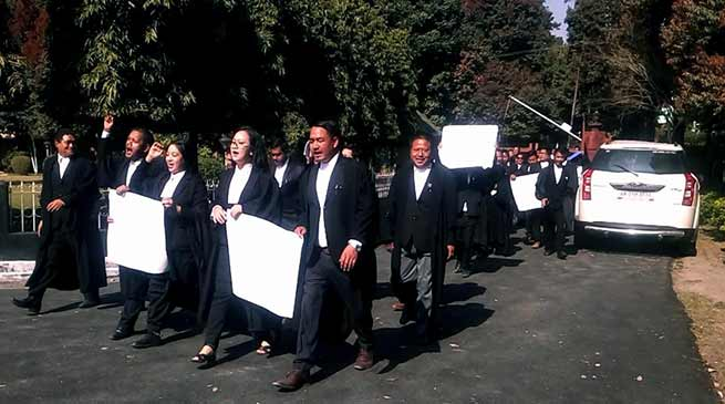Arunachal: Protest March by Advocates