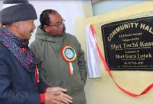 Photo of Itanagar : Kaso inaugurates Community hall in AB Sector