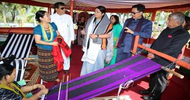 Itanagar: Irani reviews a set of indigenous loin looms