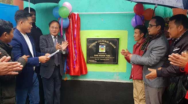 Arunchal:Tuki inaugurates several project in Sagalee and Toru