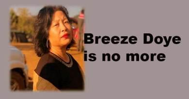 Arunachal: Breeze Doye is no more