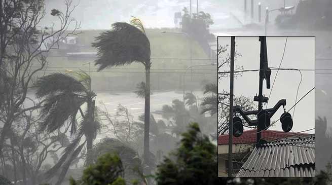Itanagar: Cyclone hit capital complex, power supply disrupted