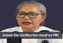 Photo of Itanagar: Jarjum Ete clarifies her stand on PRC