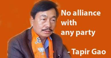 Arunachal Pradesh Assembly Election: No alliance with any party- Tapir Gao