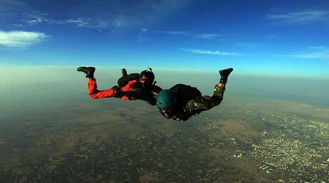 First ever Skydiving jump by Battle Casualty Veteran held in Nasik