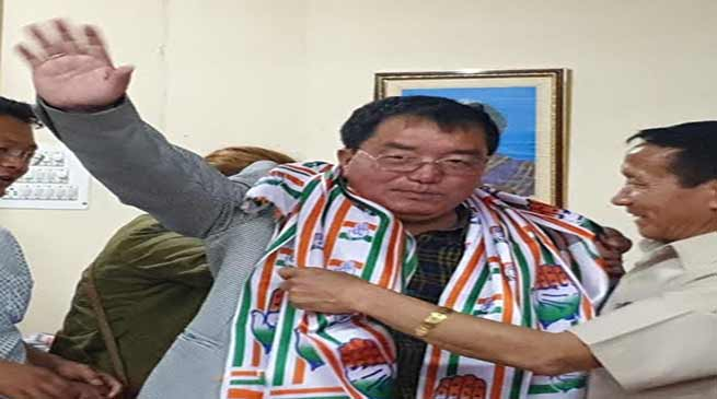 Arunachal:Engineer Tai Nikio turned politician, joins congress