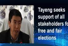 Arunachal CEO Kaling Tayeng seeks support of all stakeholders for free and fair elections