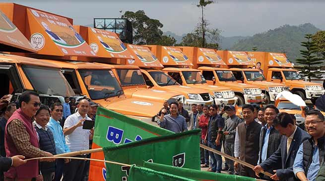 Arunachal: BJP launches Mobile Video Van for Election Campaign