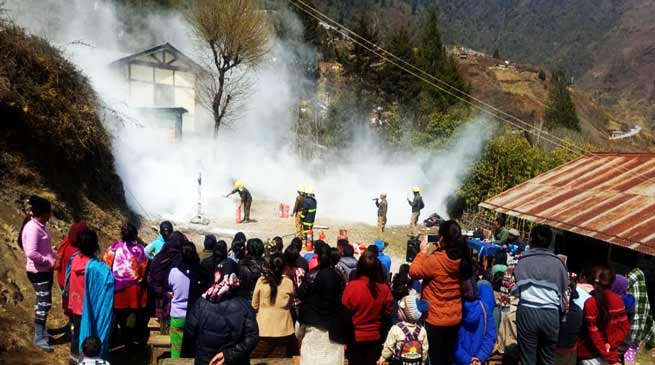 Bomdila: Mass awareness campaign on disaster management held in Pedung Village