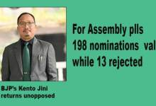 Photo of Arunachal polls: 198 nominations found valid, 13 rejected for assembly poll