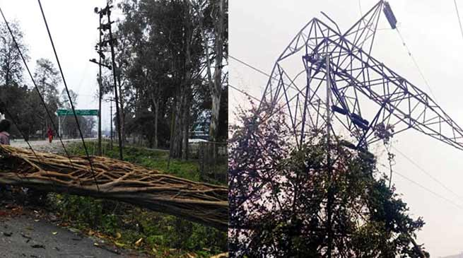 Arunachal: Power outages due to rainstorm, Lohit, Tezu are in dark