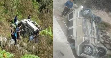 Arunachal: 3 dies, 2 injured in a road accident in Talo
