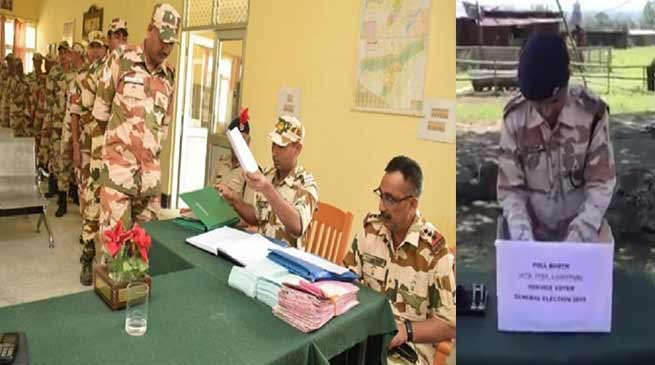 Arunachal Pradesh: ITBP soldiers cast first vote for Lok Sabha polls