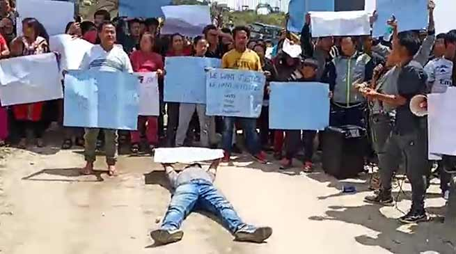 Arunachal: Massive protest by NPP supporters demanding re-poll