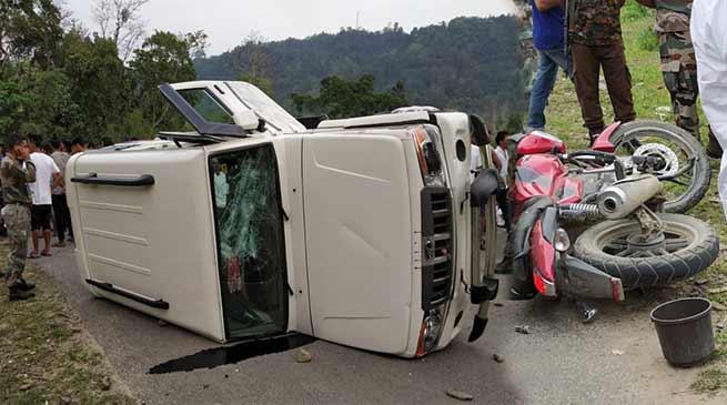 Arunachal: one person killed in collision with bolero and bike in Kanubari