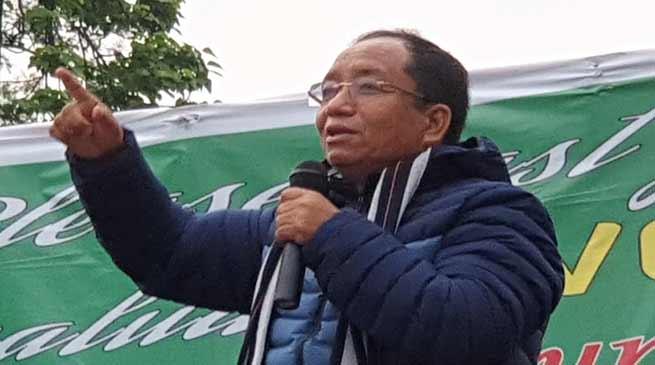 Arunachal polls:Techi Kaso allege BJP and congress for recent PRC fiasco