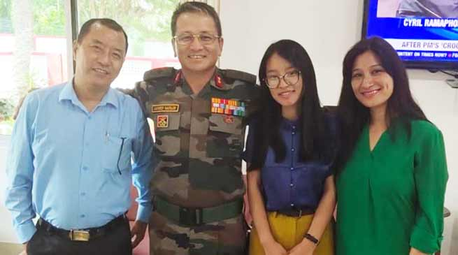 Arunachal: Dr. Anshu Jamsenpa calls on Maj Gen Jarken Gamlin