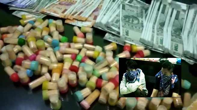 Itanagar Capital police seized huge quantity of drugs, 2 arrested
