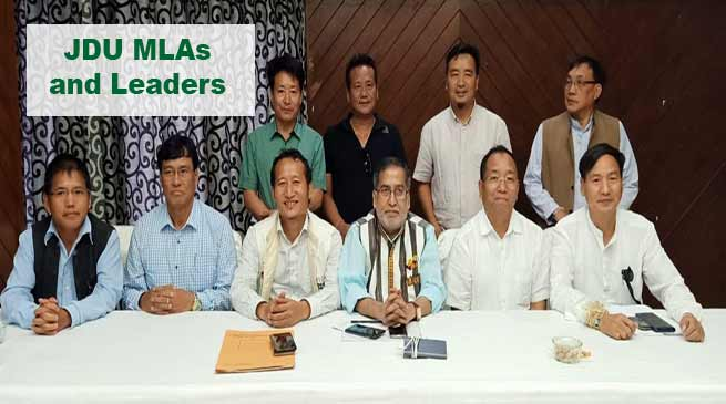 Itanagar: Techi Kaso elected as leader of JDU's legislature Party