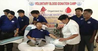 Arunachal: KGWST members donates 22 units blood